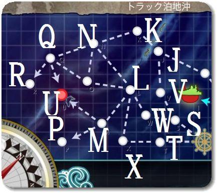 2017冬イベE3 戦力ゲージマップ